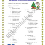 Christmas Movie Activity - Esl Worksheetninastoffel