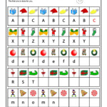 Christmas Pattern And Letter Recognition Worksheet | Woo! Jr
