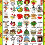 Christmas Pictionary - Esl Worksheetkatiana