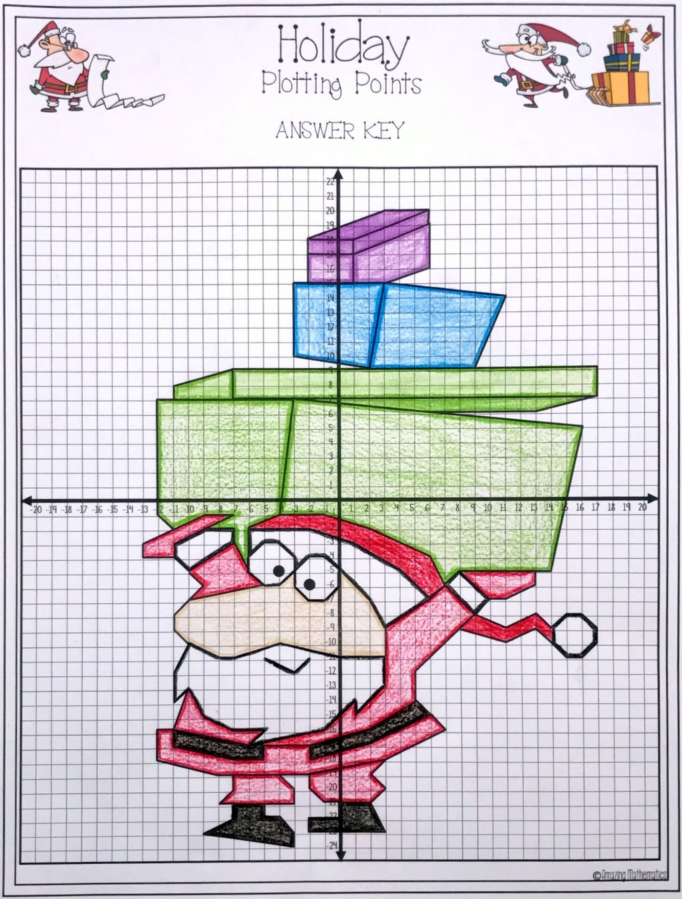Christmas Plotting Points - Mystery Picture | Coordinate