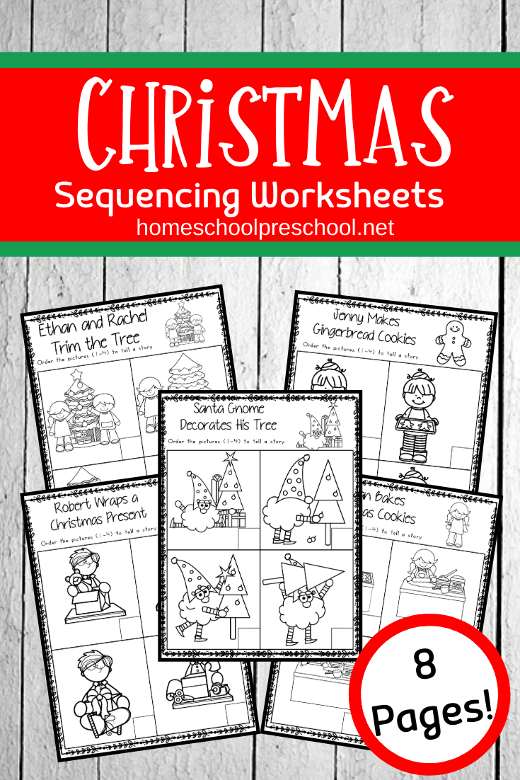 Christmas Sequence Worksheet Pack | Sequencing Worksheets