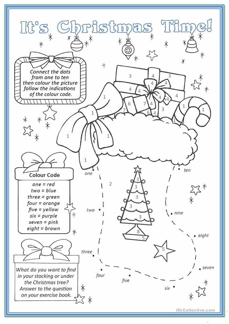 Christmas Stocking - English Esl Worksheets For Distance