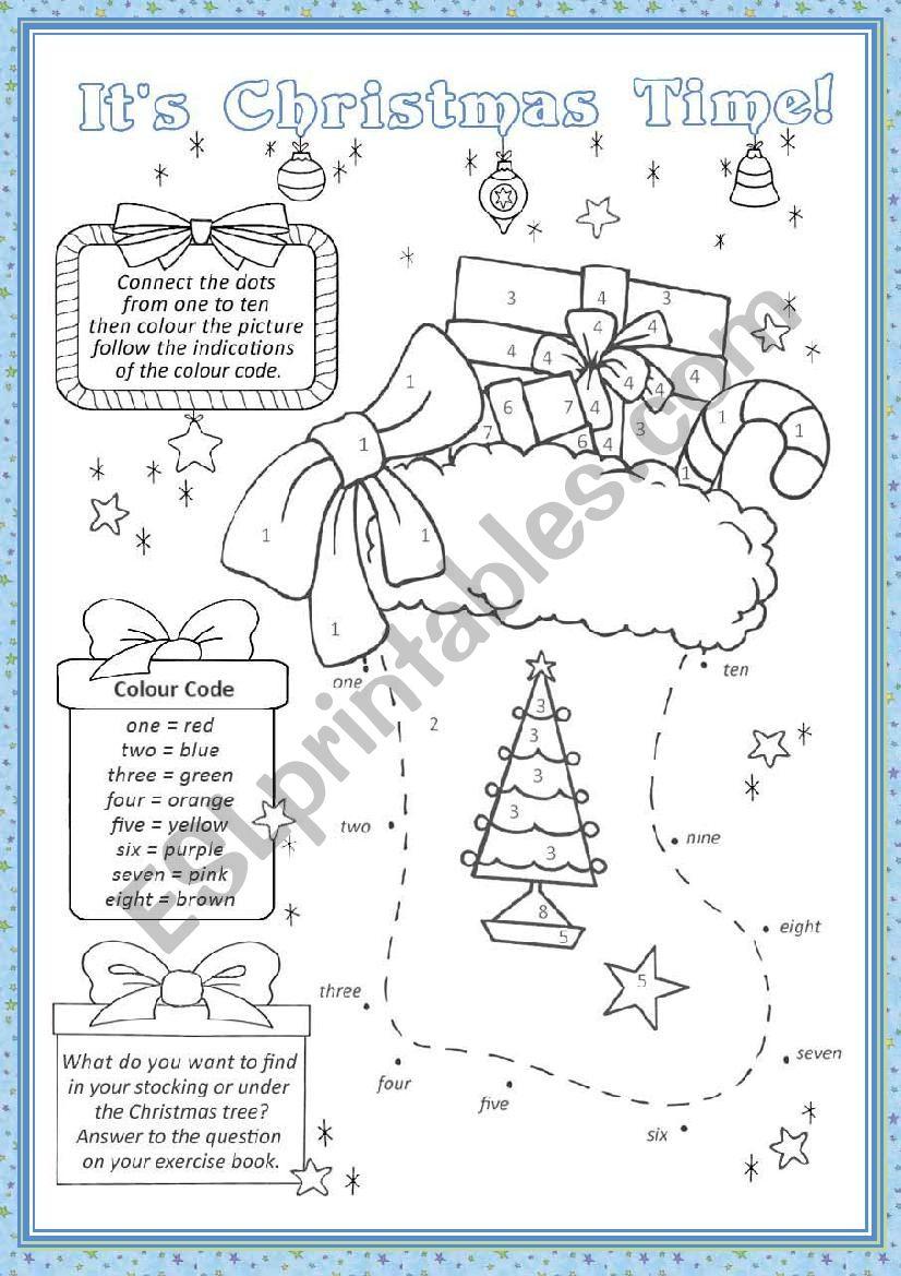Christmas Stocking - Esl Worksheetchiaretta