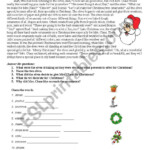 Christmas Story - Esl Worksheetsilviana_S