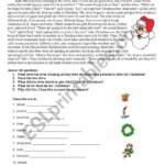 Christmas Story - Esl Worksheetsilviana_S