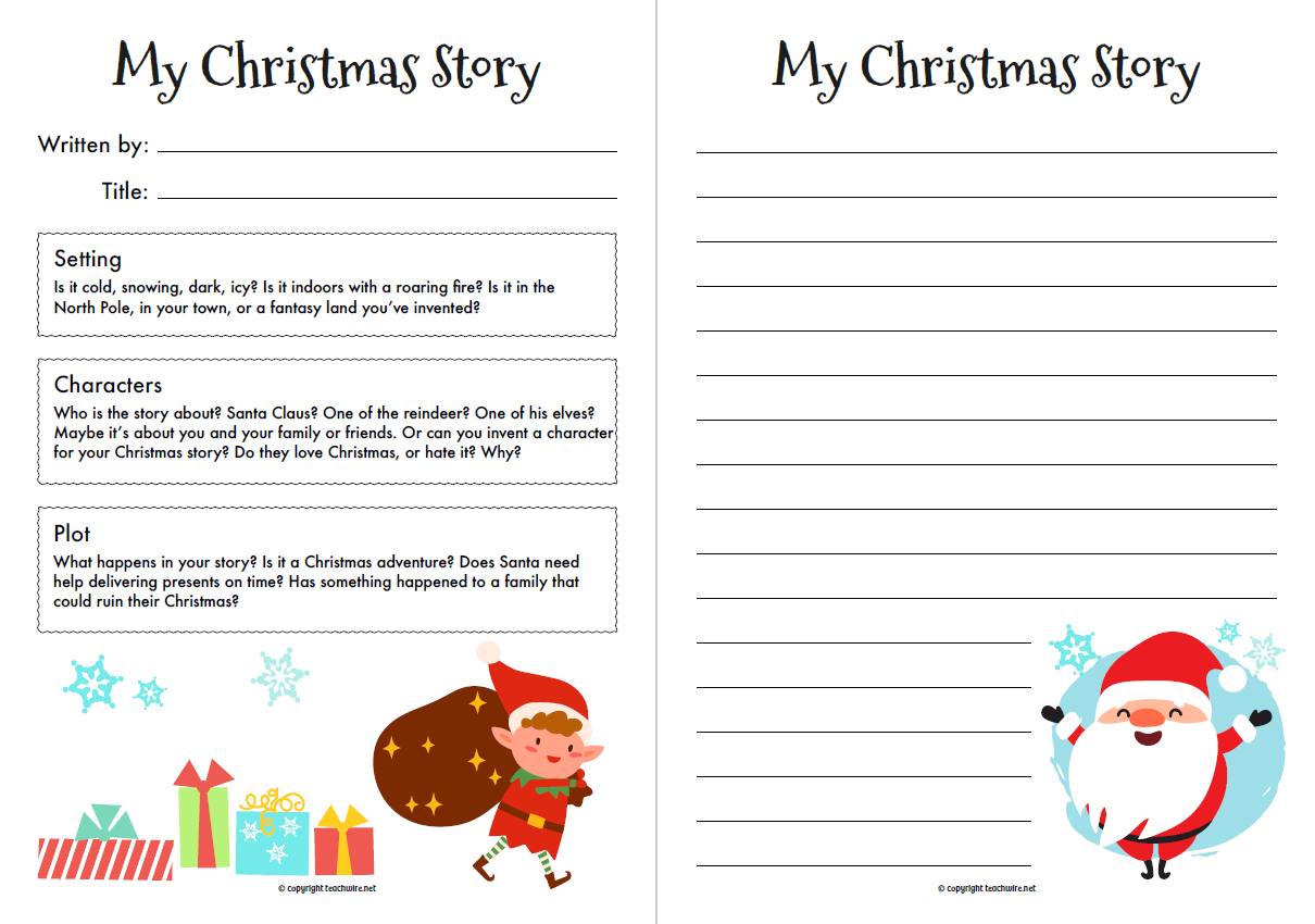 Christmas Story Starter Worksheet For Ks1 And Ks2 English