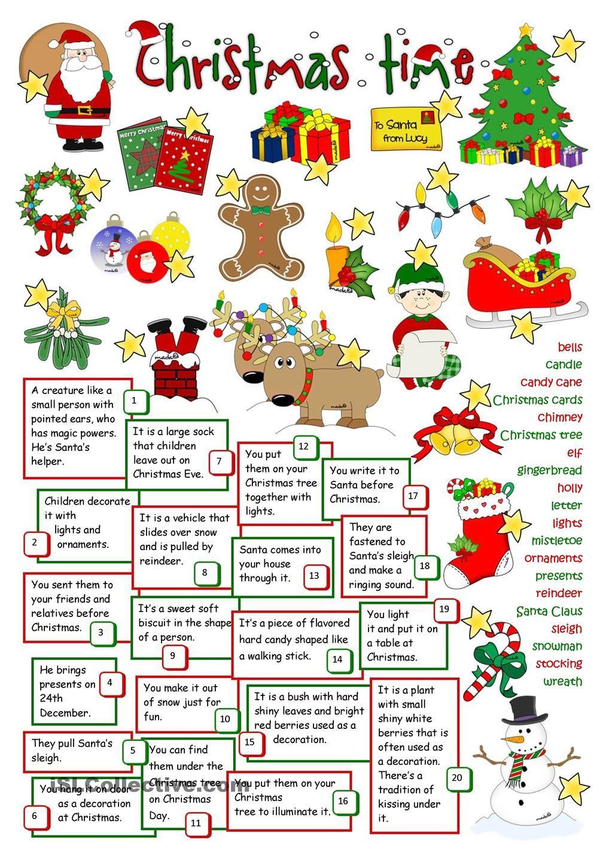 Christmas Time | Christmas Worksheets, Christmas Teaching