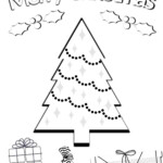 Christmas Treeng Pages Worksheets For Kids Free Easy