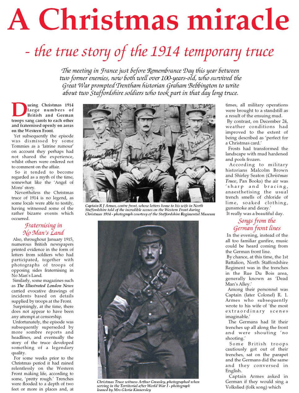 Christmas Truce 1914 | Christmas Truce, Missed In History