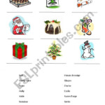 Christmas Vocabulary - Esl Worksheetalexsimpo