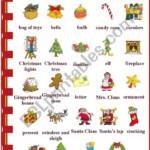 Christmas Vocabulary - Esl Worksheetvanda51