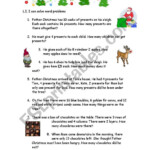 Christmas Word Problems - Esl Worksheetemmywest2011