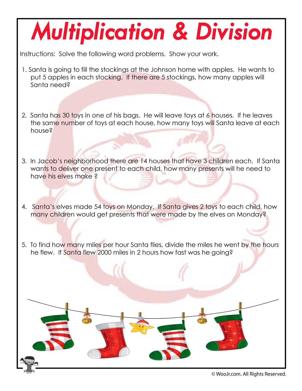 Christmas-Word-Problems-Worksheet | Woo! Jr. Kids Activities