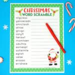 Christmas Word Scramble Printable - Happiness Is Homemade