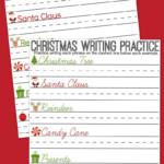 Christmas Writing Practice Sheets #creativehop - A Mom's