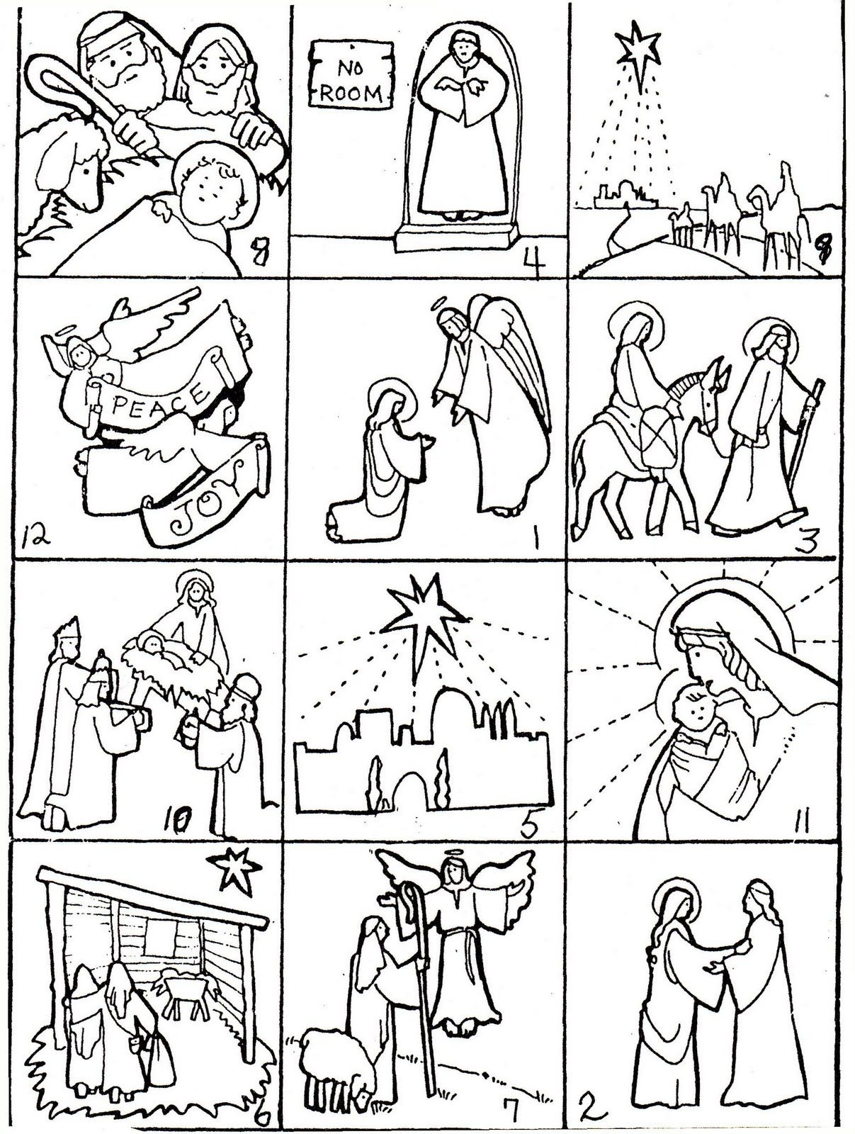 Christmas+Story (Image) | Story Sequencing, The Nativity