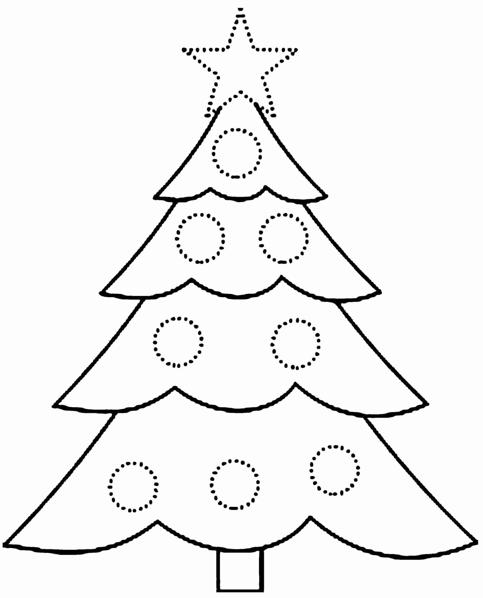 Coloring Pages Worksheets Christmas Tree Page Sheet Meriwer