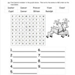 Easy Word Search Puzzles To Print | Christmas Worksheets