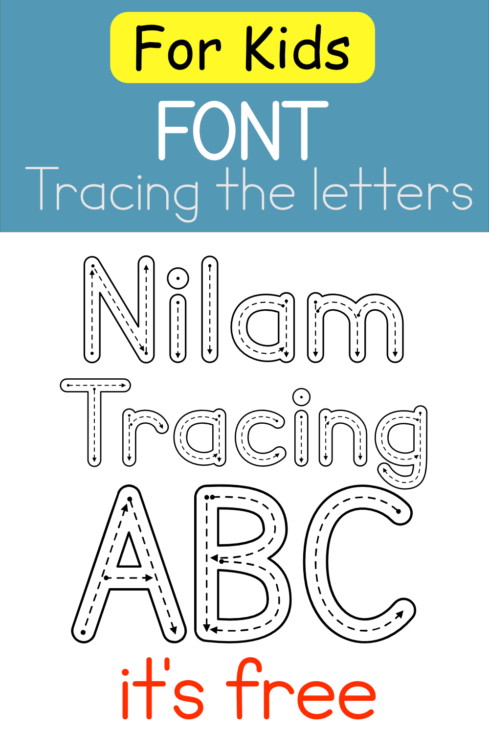 Font For Kids - Tracing In 2020 | Kid Fonts, School Fonts