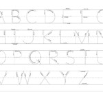 Free Alphabet Tracings Traceable Letters For Preschoolers