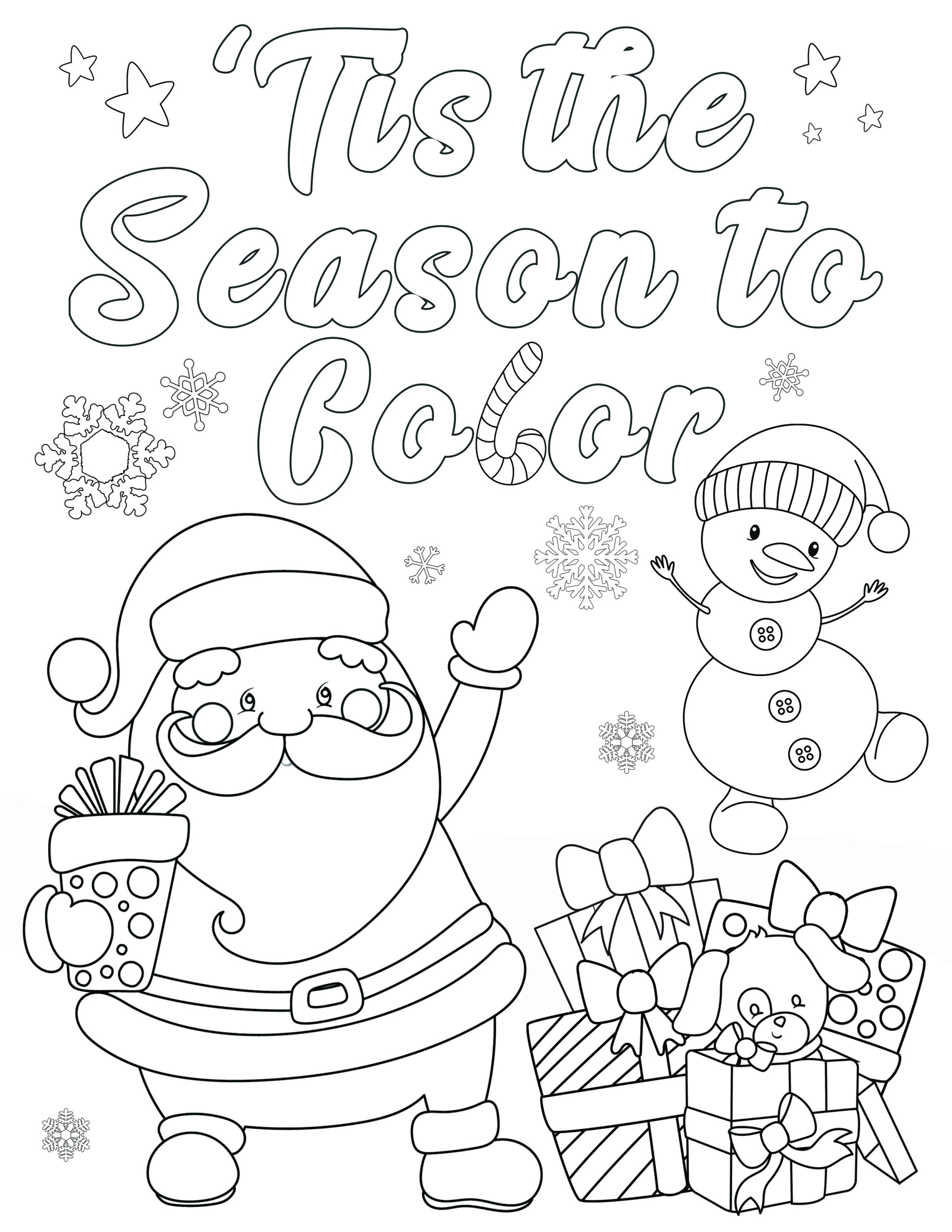 Free Christmas Coloring Pages For Adults And Kids