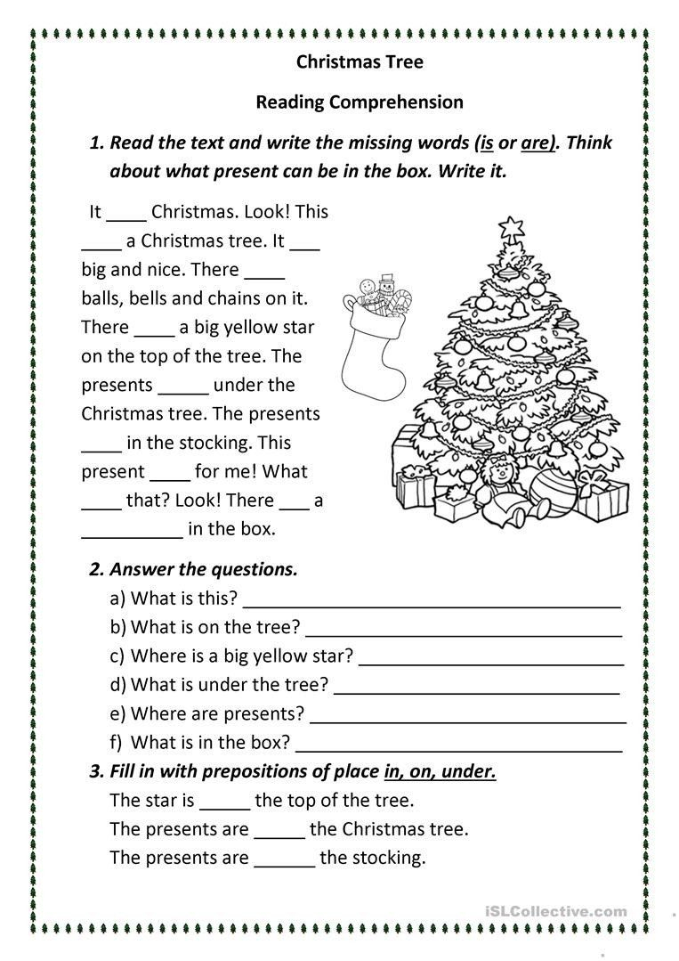 Free Christmas Reading Comprehension Worksheets Christmas