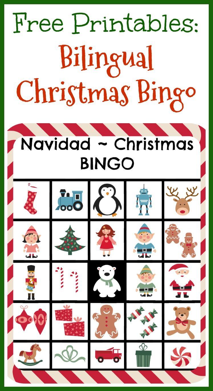 Free Printables: Bilingual Christmas Bingo - Ladydeelg