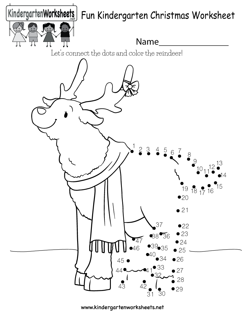 Fun Christmas Worksheet - Free Kindergarten Holiday