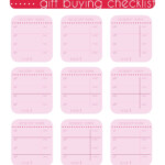Gift Buying Checklist Free Printable – 29Th And Delight