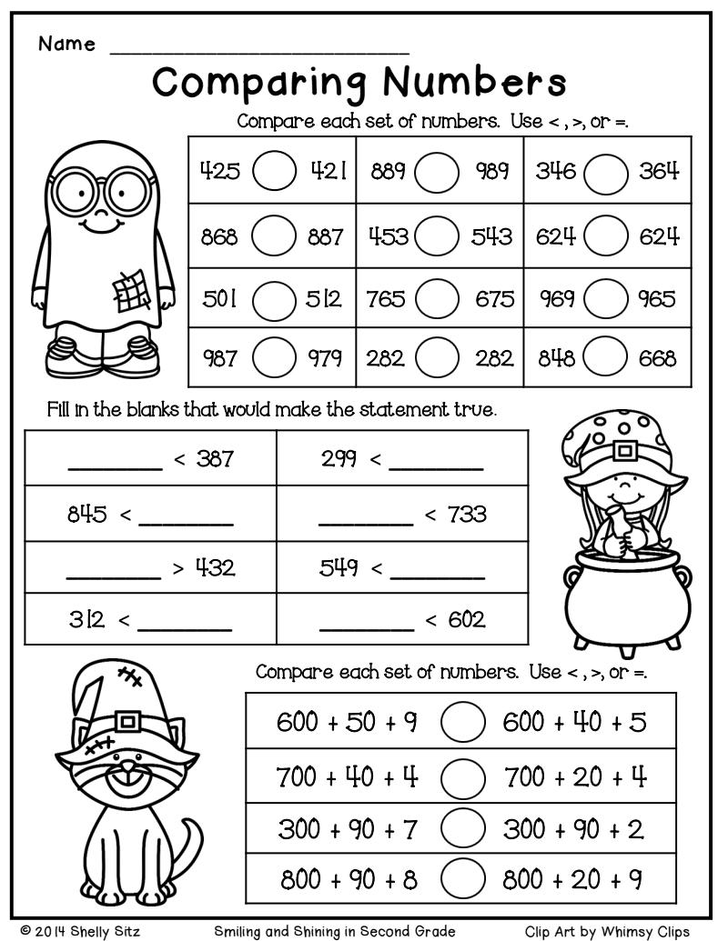 Halloween Math Freebie.pdf - Google Drive   2Nd Grade Math