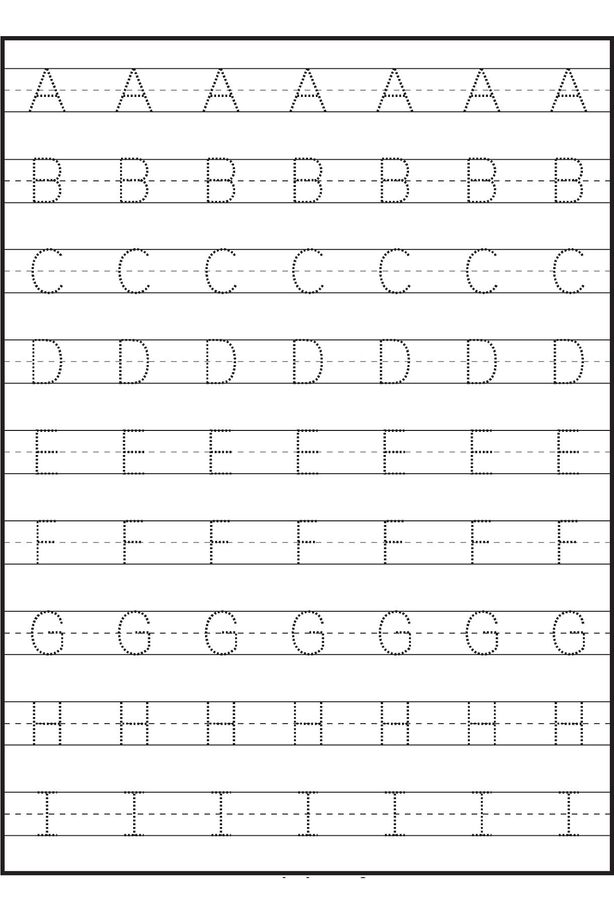 Incredible Letter Tracingrksheets Image Ideas