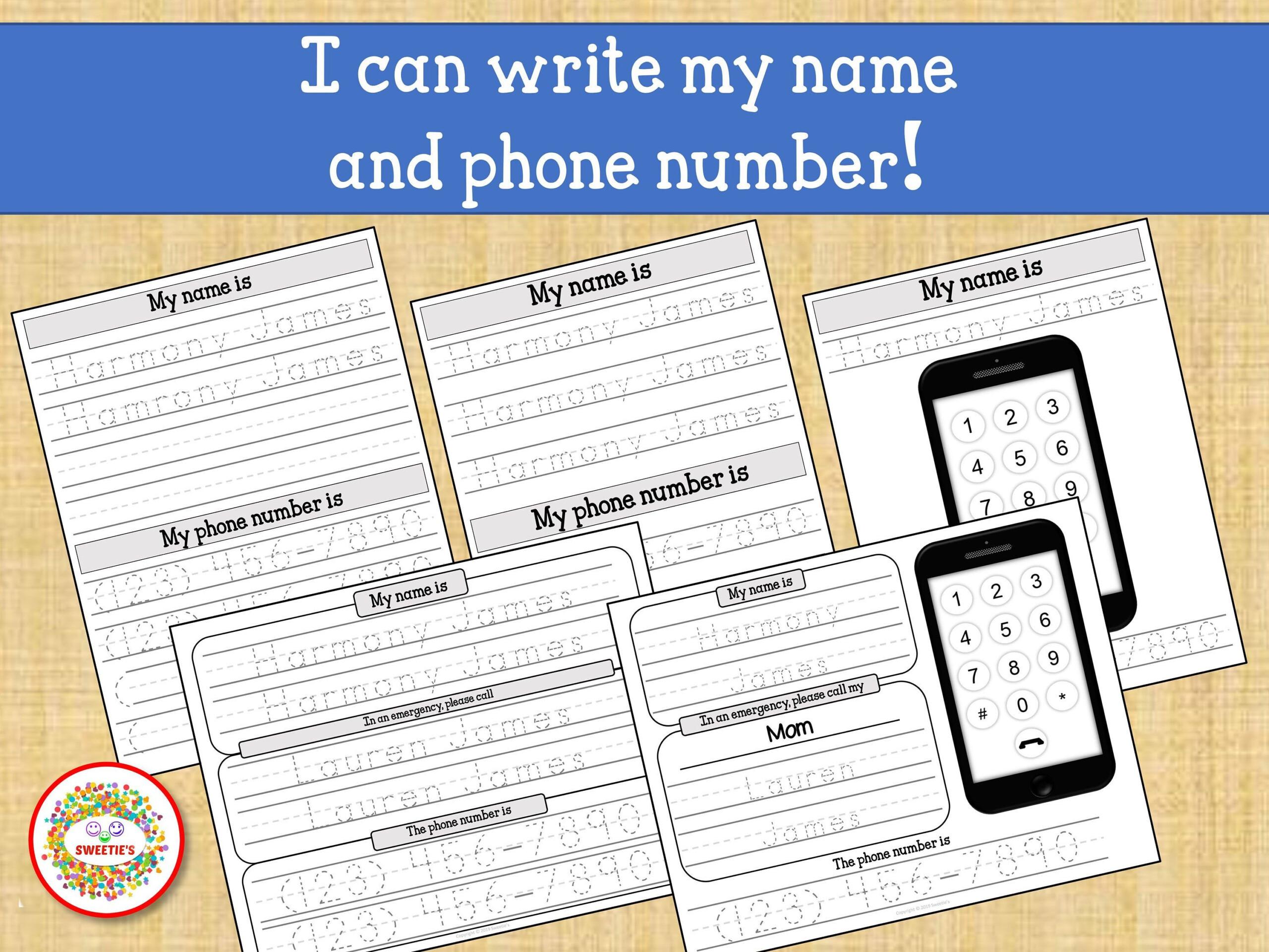 Kids Name Tracing Worksheet Learn To Write Name Learn Phone