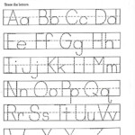 Kindergarten Worksheets Tracing Letters Practice Sheets
