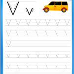 Letter V Is For Van Handwriting Practice Worksheet | Free