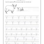 Letter Y Worksheets For Kindergarten – Trace Dotted Letters