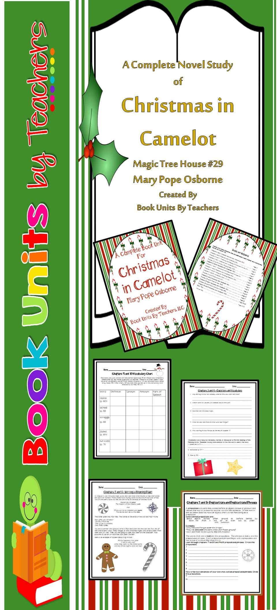 Magic Tree House Christmas In Camelot Book Unit-Includes