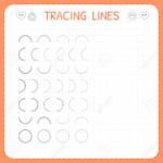 Math Worksheet : Tracing Lines Worksheet For Kids Basicing