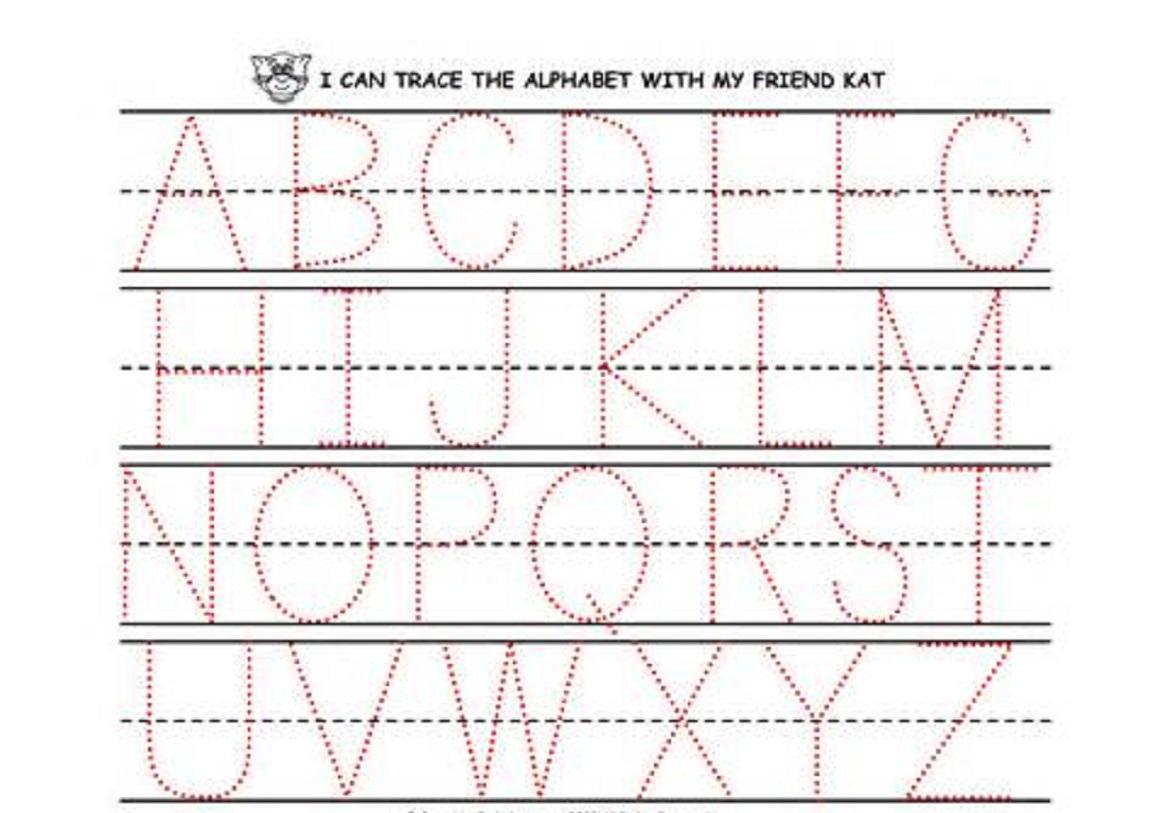 Math Worksheet : Tracing Worksheet For Preschool Children