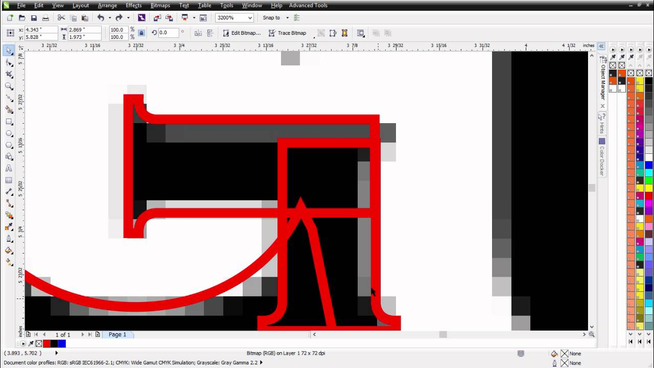Maunally Vector Tracing Fonts In Coreldraw Tutorial
