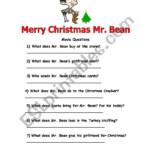 Merry Christmas Mr. Bean - Esl Worksheetsvein