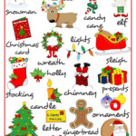 Merry Christmas - Pictionary - English Esl Worksheets For