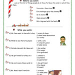 Mr Bean Merry Xmas - English Esl Worksheets For Distance