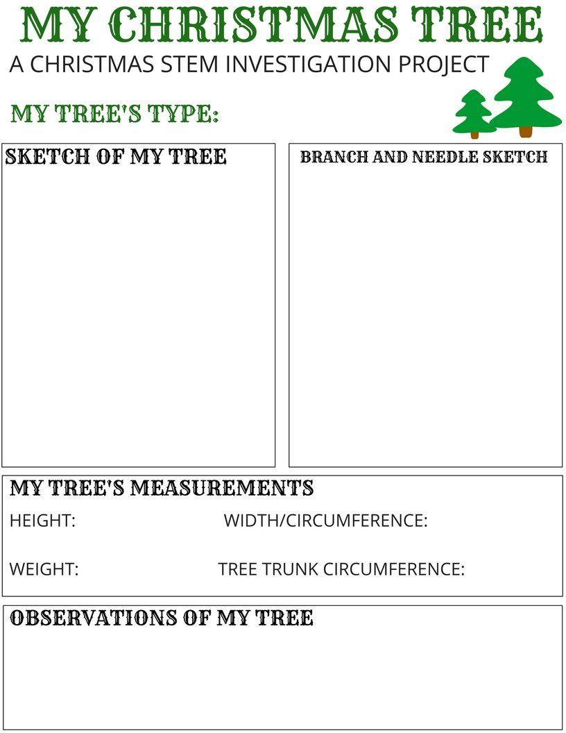 My Christmas Tree Stem Activity {Free Printable}   Stem