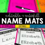Name Practice Mats Editable | Name Practice, Kindergarten