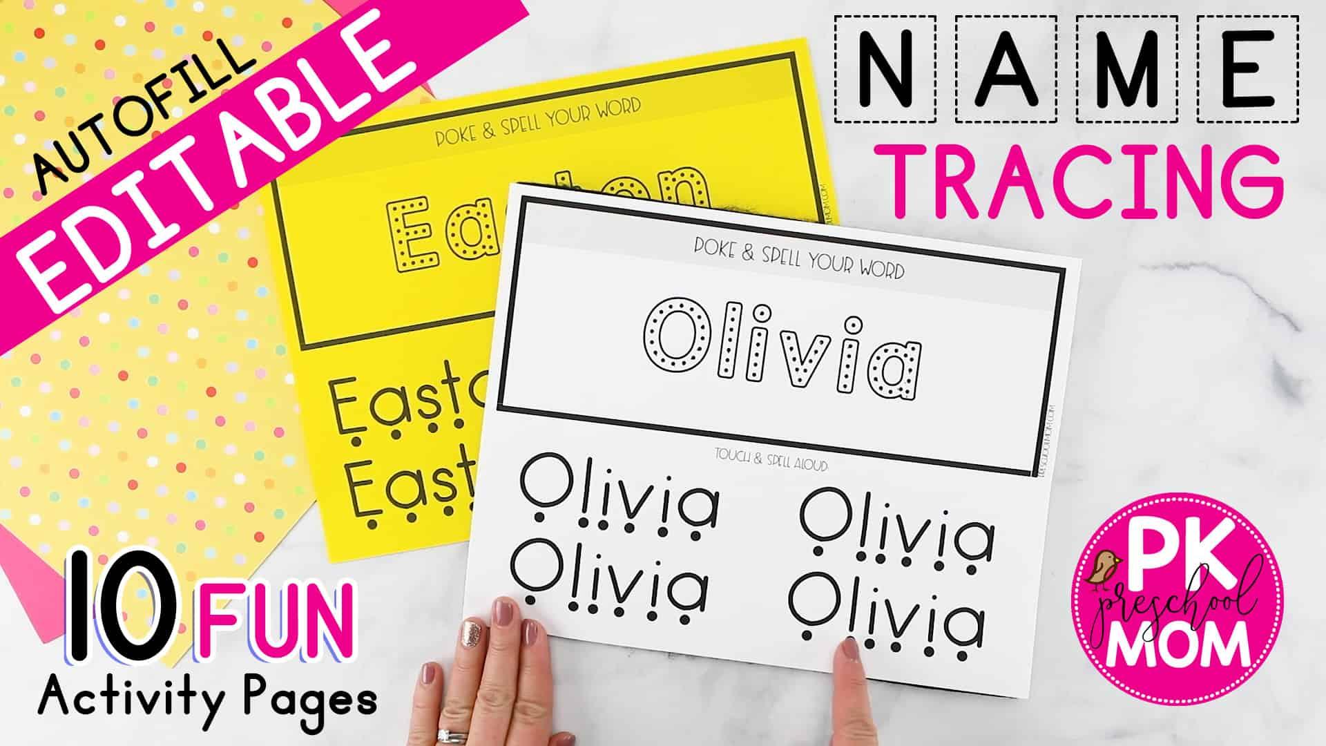 Name Tracing Worksheets - Preschool Mom