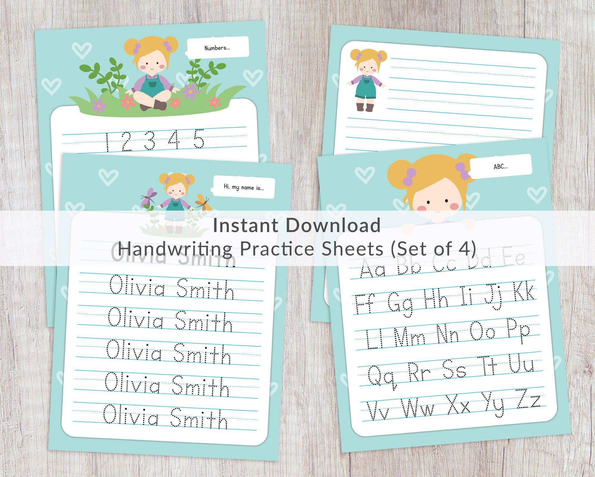 Name Tracing Worksheets Prints. Printable Handwriting