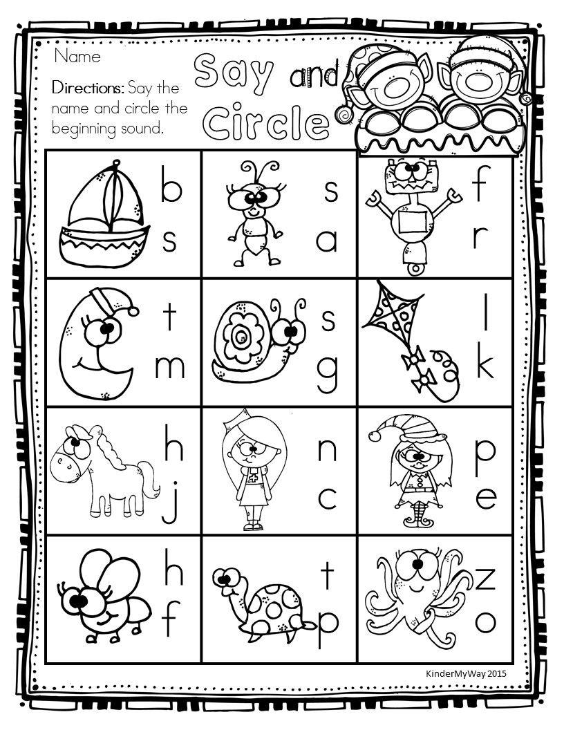 Preschool Christmas Math And Literacy Packet | Christmas