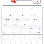 Preschool Letter J Tracing Worksheet - Different Sizes