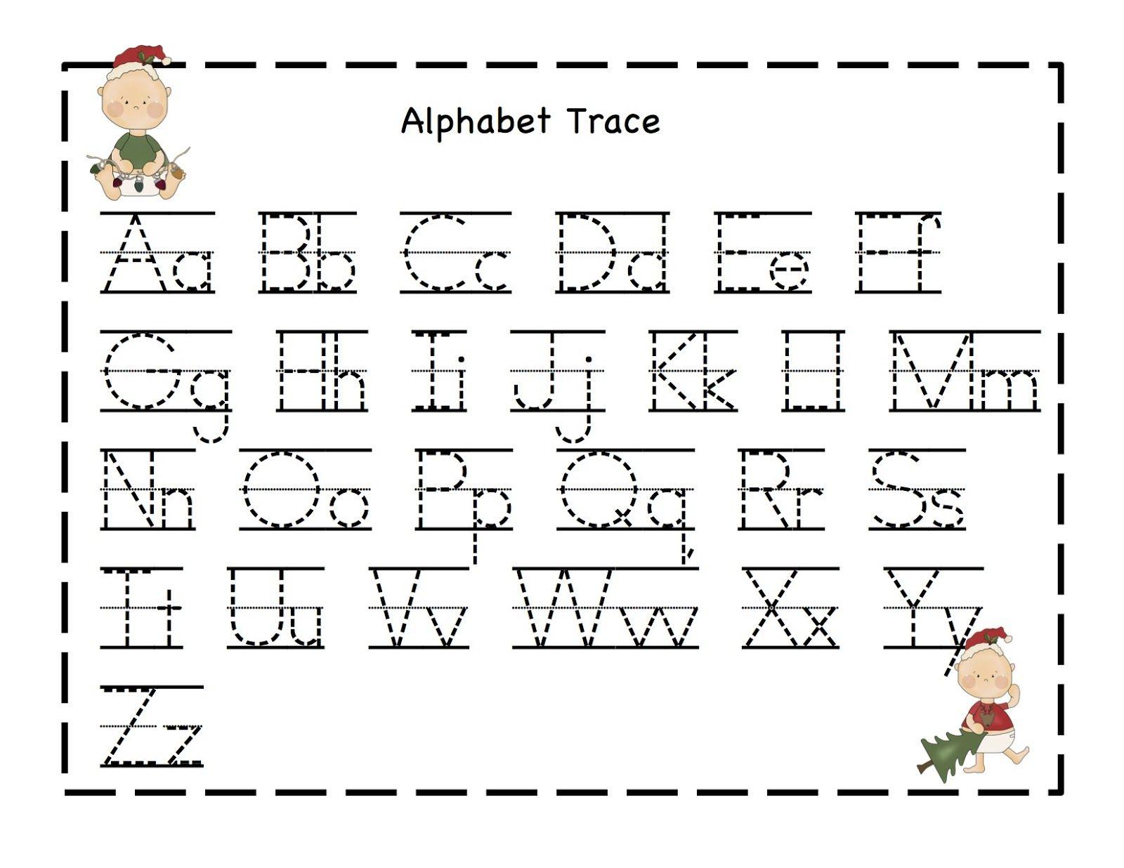 Preschool Printables: Christmas | Alphabet Writing