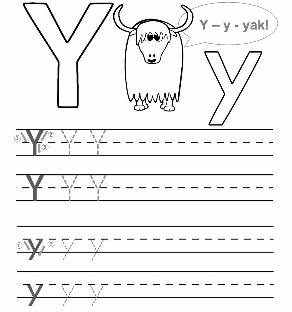 Preschool Worksheet Gallery: Letter Y Worksheets For Preschool